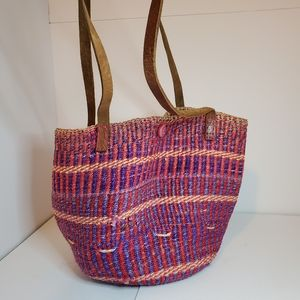Handbags - Boho  African straw jute style handbag